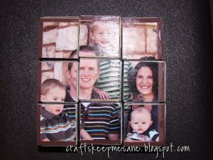 Wood photo puzzle