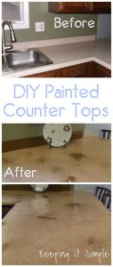 Tutorial Tuesday: Painted Counter tops