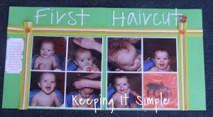 Scrapbooking Week: First Haircut