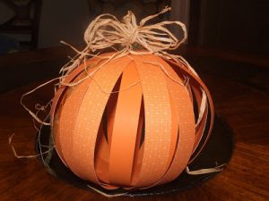 Whatever Wednesday: Paper Pumpkin