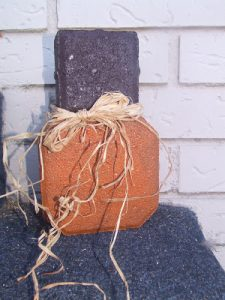 Whatever Wednesday: Paver Pumpkin