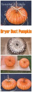 Tutorial Tuesday: Dryer Duct Pumpkin