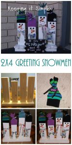 Easy Christmas and Winter Decoration: 2×4 Wood Greeting Snowmen