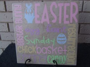 Silhouette Saturday: Easter Tile