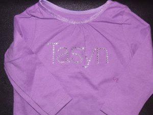 Silhouette Saturday: Name Shirts