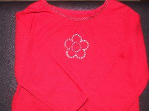 Rhinestone flower shirt