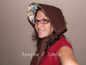 Tutorial Tuesday: Apron that turns into bonnet!