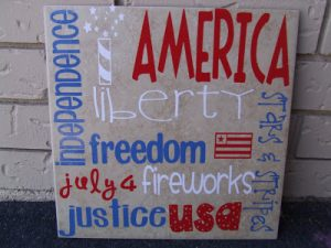Silhouette Saturday: 4th of July Subway Tile