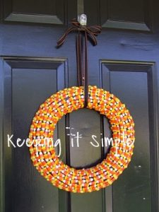 Tutorial Tuesday: Candy Corn Wreath