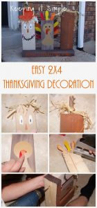 Easy Thanksgiving Decoration using 2x4s