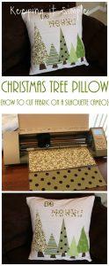Silhouette CAMEO 101- fabric interfacing: Christmas Tree Pillow