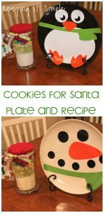 Neighbor or Teacher Christmas Gift Idea: Cookies for Santa Plate and Cookies