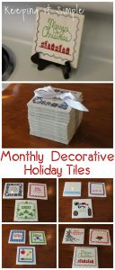 Christmas Gift Idea: 4×4 Monthly Decorative Holiday Tiles