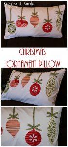 Christmas Pillow Idea- Ornament Pillow