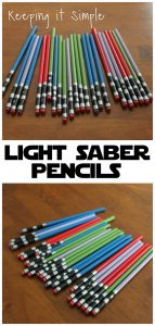 Star Wars Light Saber Pencils