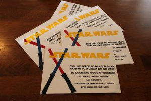 Scrapbook Thursday: Star Wars Invitations