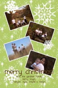 My Memories Christmas Card and GIVEAWAY!