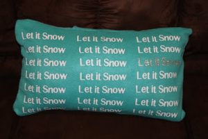 Whatever Wednesday: Let it Snow Pillow