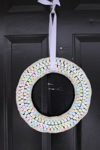 Tutorial Tuesday: Conversation Hearts Wreath