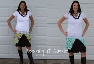 Tutorial Tuesday: Ruffle skirt and reversible wrap