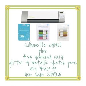 Silhouette CAMEO bundle for only $269.99!!