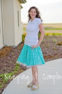 50's style full circle skirt