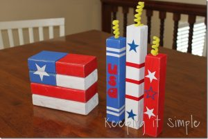 2×4 Flag and 2×2 Firecrackers