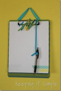 Washi Tape Clipboard and Downtown Tape GIVEAWAY