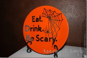 Eat. Drink. Be Scary Plate