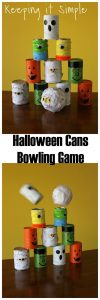 Halloween Cans Game- Halloween Party Game Idea