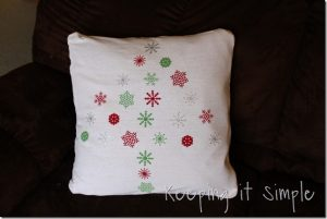 Christmas Snowflake pillows