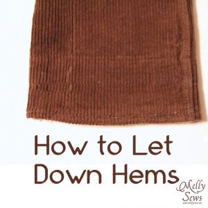 How to Let Down Hems {Melly Sews}