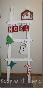 Christmas Ladder Decor