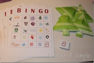 Christmas Bingo and Candy Pouch