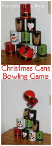 Christmas Party Game -Bowling Cans
