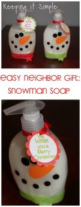 The best Christmas Neighbor Gift -Snowman Soap