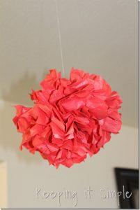 Textured Tissue Paper Pom Poms