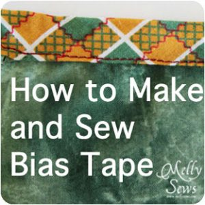 How to make bias tape {Melly Sews}