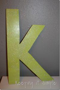 Big Wood Glittery K