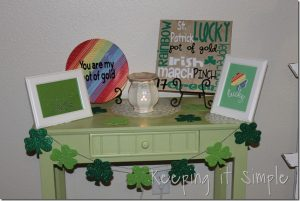 St. Patrick's Décor and Rainbow Plate