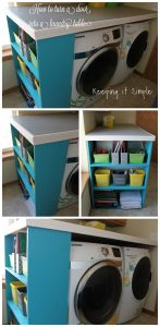 Door Turned into Laundry Table