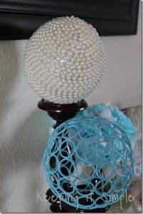 Décor Ball with beads