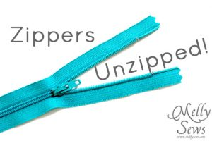 Zippers {Melly Sews}