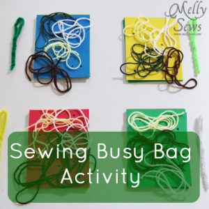 Sewing Busy Bag Activity {Melly Sews}