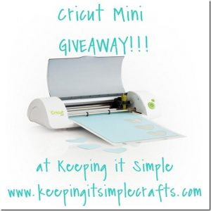 5000 Likes on Facebook: Cricut Mini GIVEAWAY