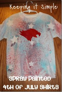 Spray Painted 4th of July Shirts