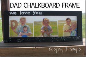DAD Chalkboard Frame