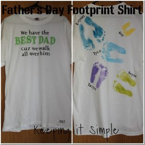 Father's Day Footprint Shirt {Cartridge giveaway}
