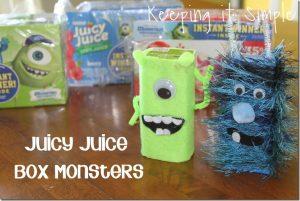 Juicy Juice Box Monsters #MUJuice