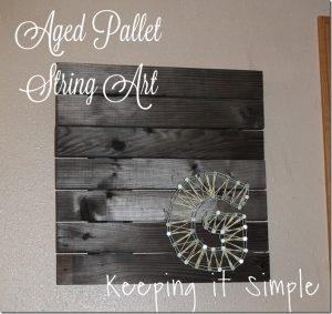 Aged Pallet String Art